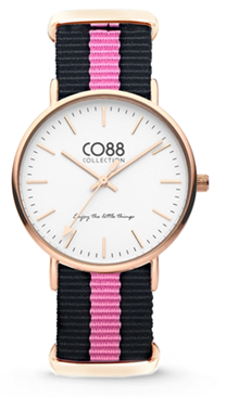 CO88 Nato Black pink gold horloge