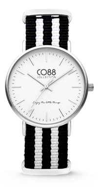 CO88 Nato White black silver horloge