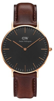 Daniel Wellington Classic Black Bristol Gold 36 mm horloge