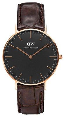 Daniel Wellington Classic Black York Gold 36 mm horloge