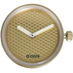 O clock klokje pavé gold