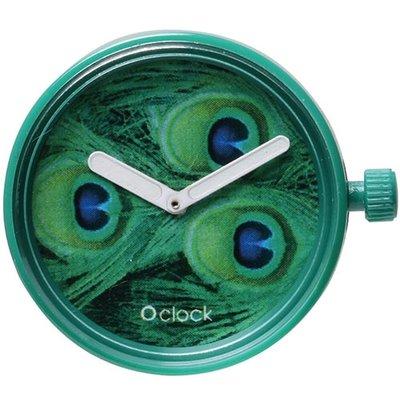 O clock klokje peacock green