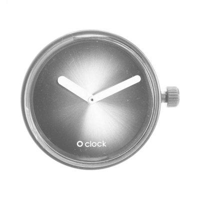 O clock klokje metal fade silver
