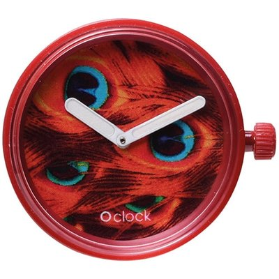 O clock klokje peacock bordeaux