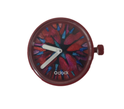 O clock klokje butterfly bordeaux