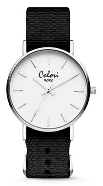 Colori Watch XOXO Nato Dark Brown Silver horloge