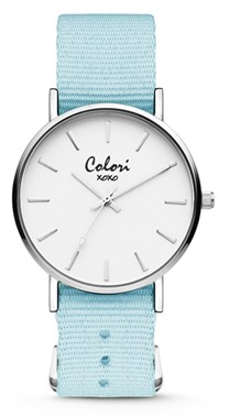 Colori Watch XOXO Nato Light Blue horloge