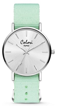 Colori Watch XOXO Nato Pastel Green horloge