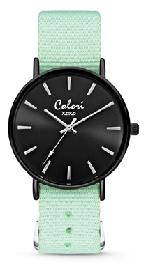 Colori Watch XOXO Nato Pastel Green Black horloge