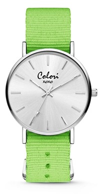 Colori Watch XOXO Nato Green horloge