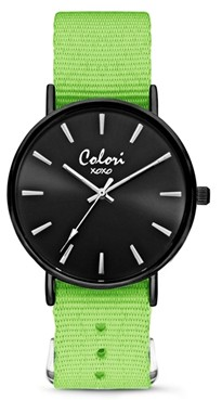 Colori Watch XOXO Nato Green Black horloge