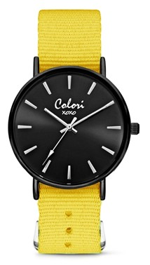 Colori Watch XOXO Nato Yellow Black horloge
