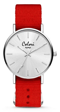 Colori Watch XOXO Nato Red horloge