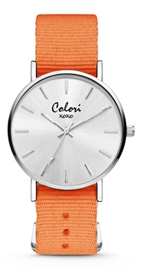 Colori Watch XOXO Nato Orange horloge