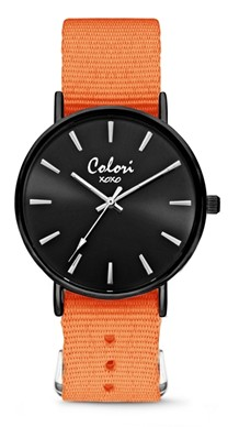 Colori Watch XOXO Nato Orange Black horloge