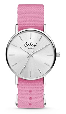 Colori Watch XOXO Nato Pink horloge