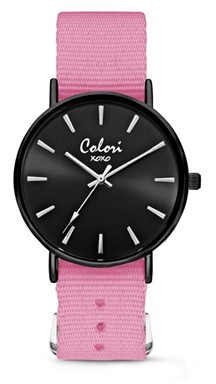 Colori Watch XOXO Nato Pink Black horloge