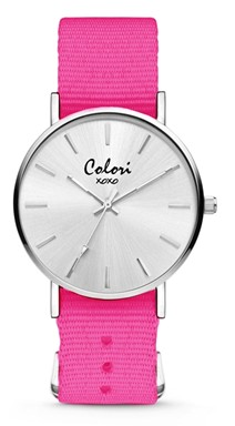 Colori Watch XOXO Nato Dark Pink horloge