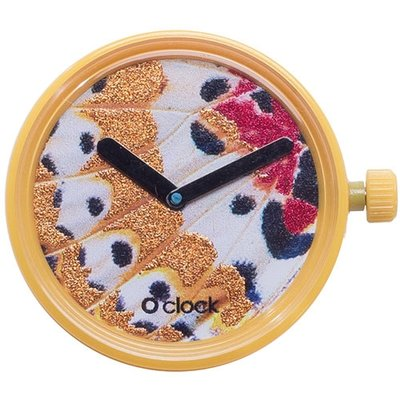 O clock klokje butterfly yellow