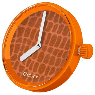 O clock klokje Safari Crocodile Orange