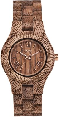 WeWOOD Criss Waves Nut Rough horloge