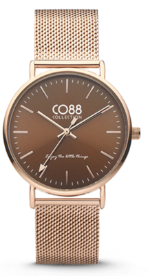 CO88 Steel Rosé brown horloge