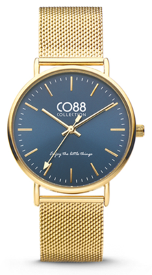 CO88 Steel Gold blue horloge
