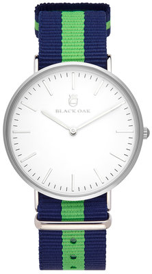 Black Oak Velutino blue green 40 mm horloge