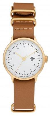 CHPO Harold Mini Gold brown horloge