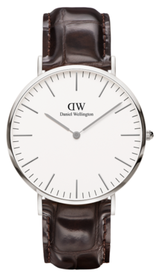 Daniel Wellington Classic York Silver 40 mm horloge
