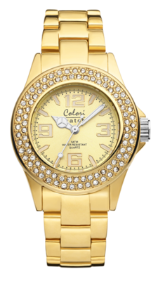 Colori Watch Pure Metal Zirkonia Gold