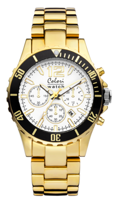 Colori Watch Pure Metal All Steel Gold Chrono