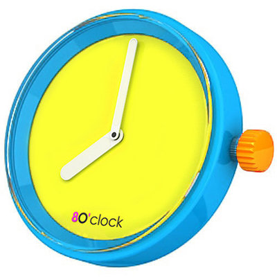 O clock klokje fluo yellow