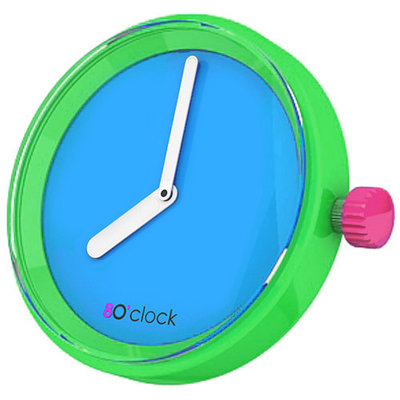 O clock klokje fluo blue