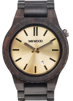 WeWOOD Arrow Black Gold horloge