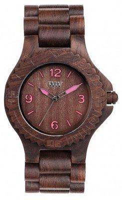 WeWOOD Kale Choco Pink horloge