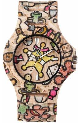 WeWOOD Date Woop Sweetstar Beige horloge
