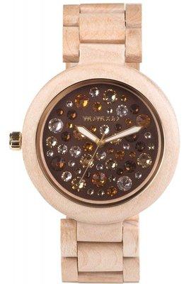 WeWOOD Alnus Beige Topaz horloge