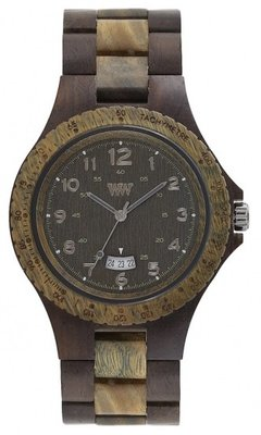 WeWOOD Seth Choco Army horloge