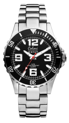 Colori Watch Pure Metal All Steel Black