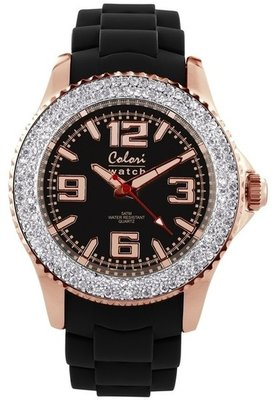 Colori Watch Amazing Rosé Black Crystal