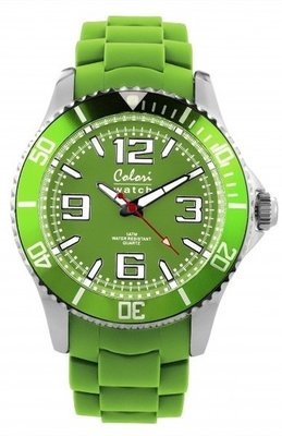 Colori Watch Cool Steel Lime Green