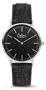 Colori Watch Denim Black horloge
