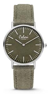Colori Watch Denim Green horloge