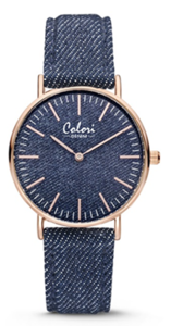 Colori Watch Denim Dark Blue horloge