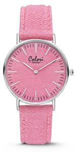 Colori Watch Denim Pink horloge