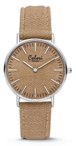 Colori Watch Denim Taupe horloge