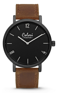 Colori Watch Phantom Black Brown horloge