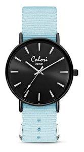 Colori Watch XOXO Nato Light Blue Black horloge