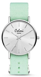 Colori Watch XOXO Nato Pastel Green horloge